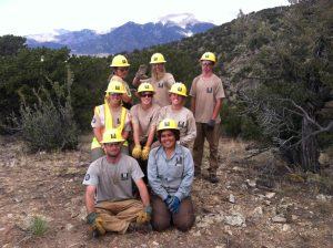 Working on a conservation corp in the Colorado Sangre de Cristos.