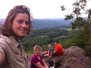 The whole family on Lion's Head in Connecticut.