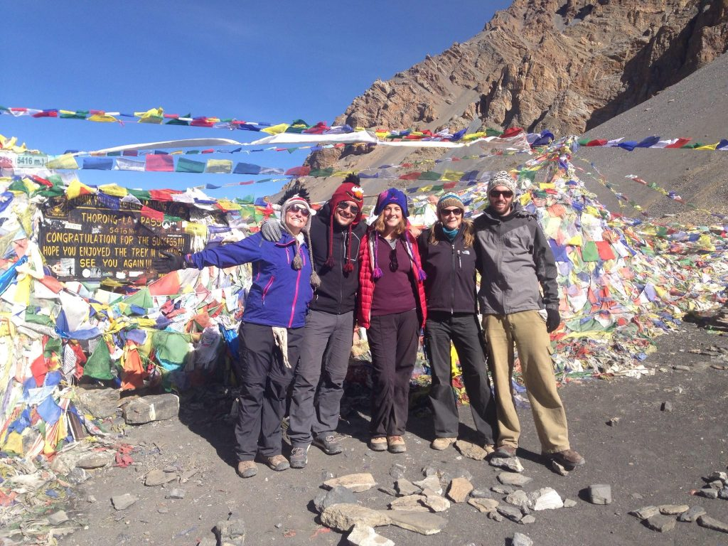 With new friends on Thorung La Pass