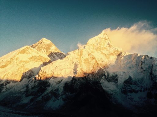Sunset hitting Everest. No big deal.