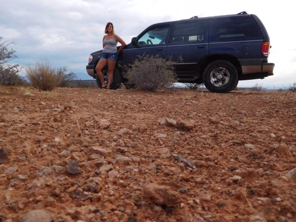 Enjoying summertime desert life.
