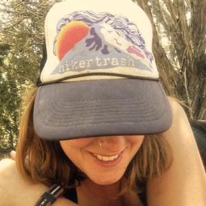 Wearing my Hikertrash hat in the Utah desert