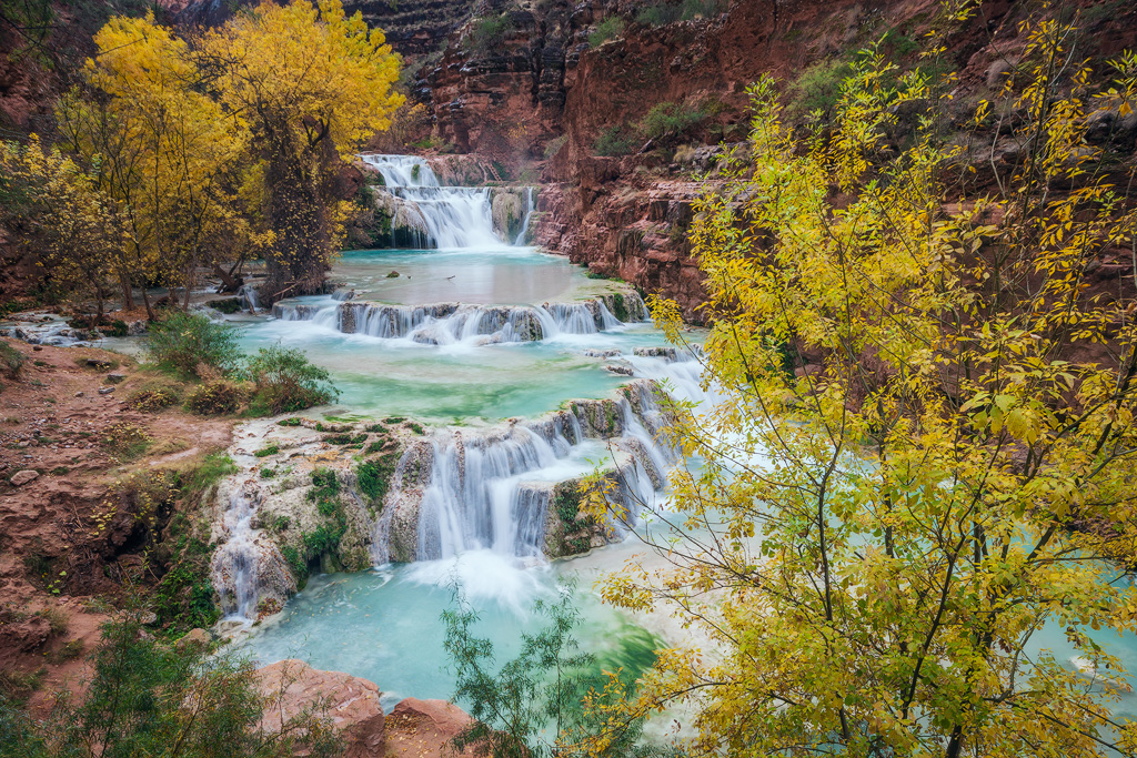 beaver falls havasupai autumn fall colors