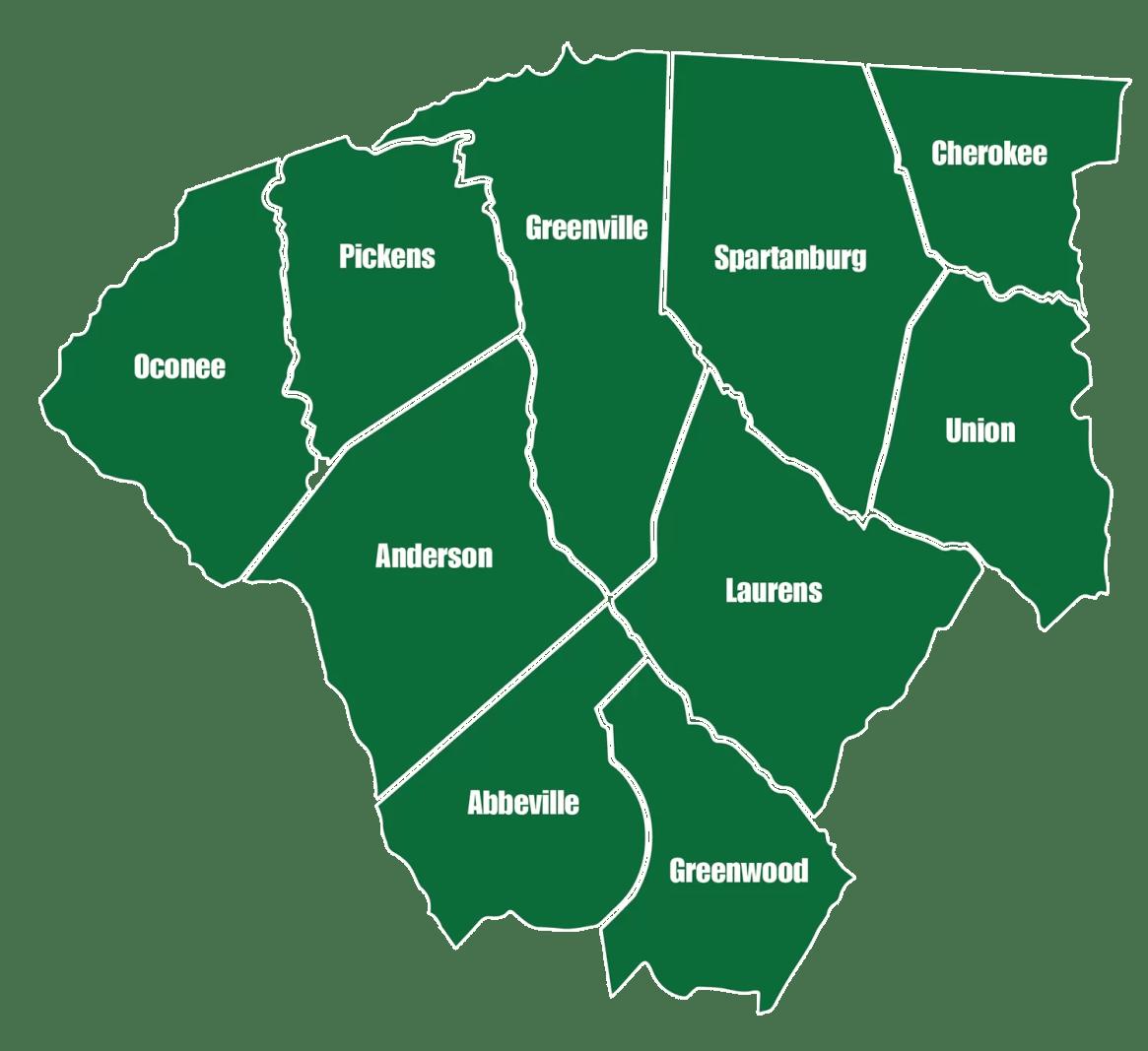 Mountain Valley Spring Water States - South Carolina