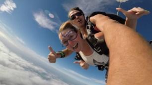 Skydiveing over San Pedro Belize