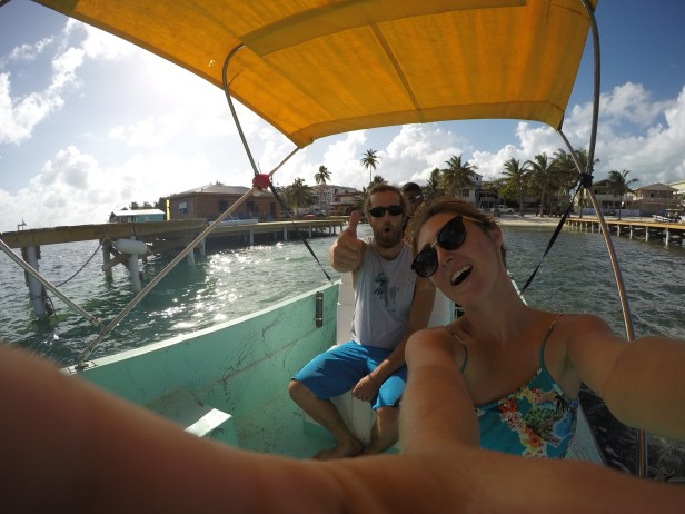 Rocky and I enjoying the boat