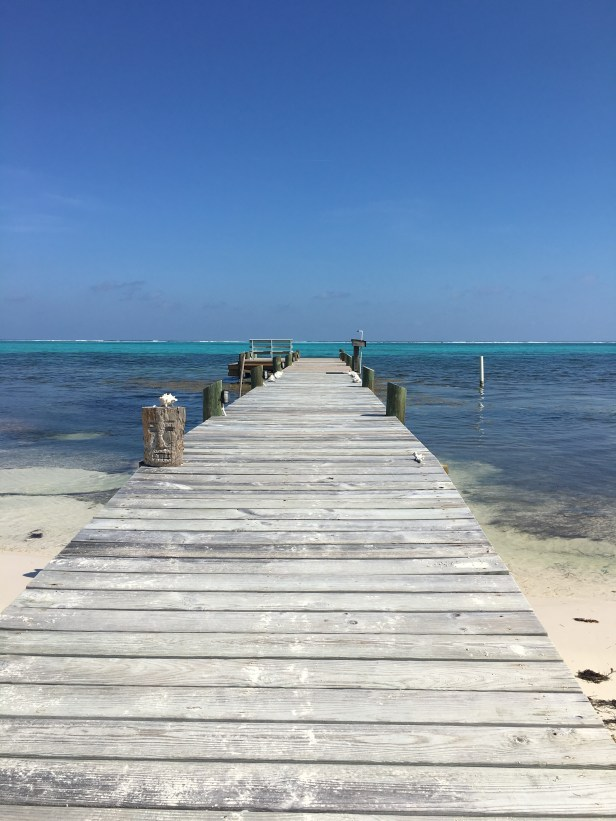 A dock in Ambergris Caye