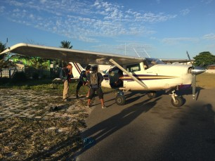 Skydive San Pedro and Skydive Belize loading up for a fun jump