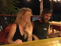 Rocky and Mandy being silly in Caye Caulker Belize