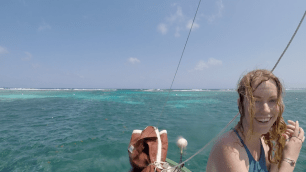 Mandy after snorkeling