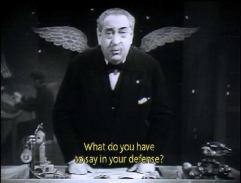 L'ange de l'administration divine dans Liliom, réalisé par Fritz Lang (1934)