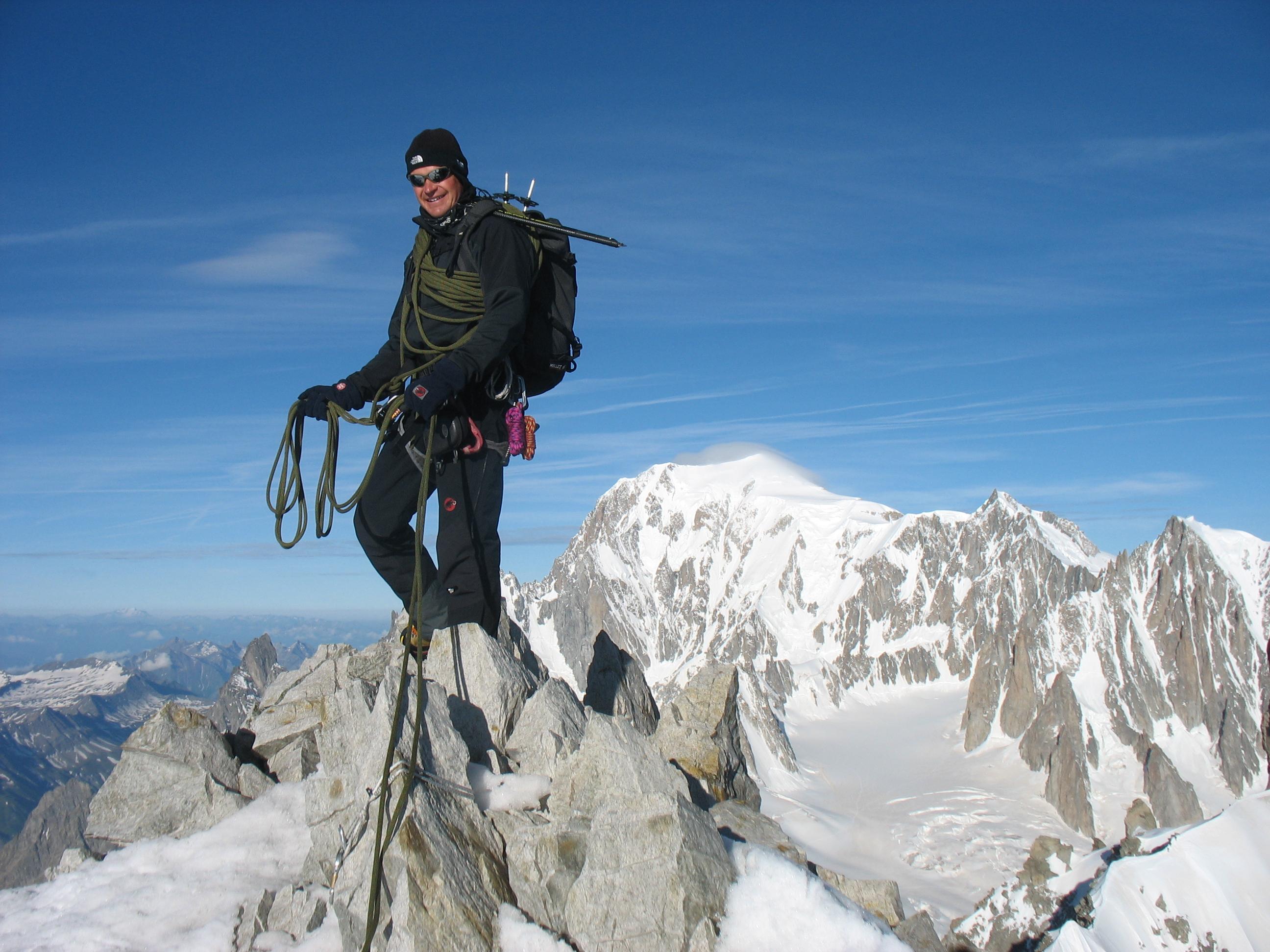 Op de Aig de Rochefort, 4001m
