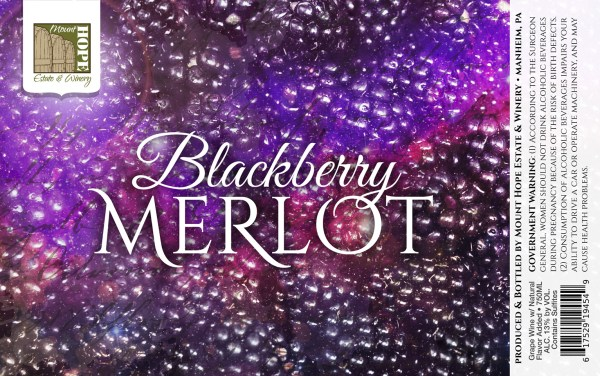 Blackberry Merlot Label