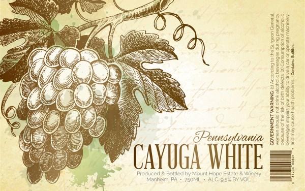 Cayuga White Full Label