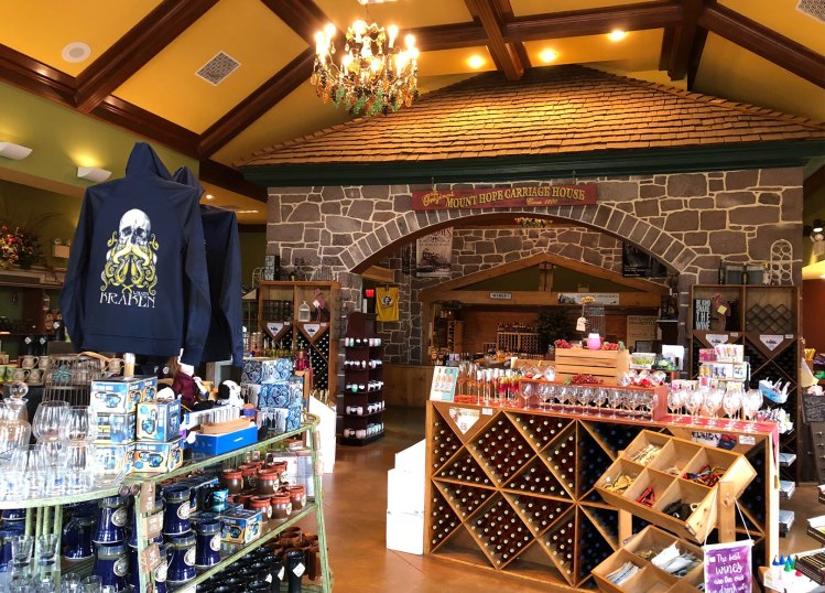 Mount Hope Wine Shop Interior