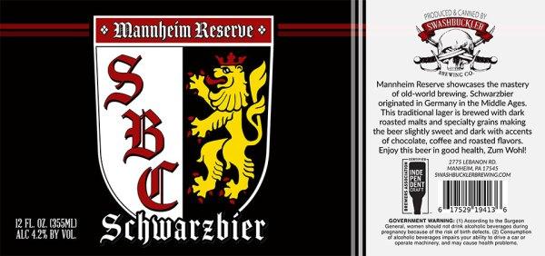 Mannheim Schwarzbier Label