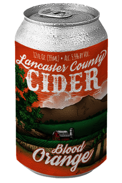 Blood Orange Cider Can