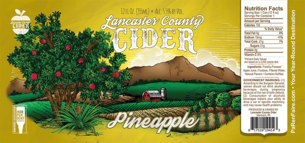 Pineapple Cider Label