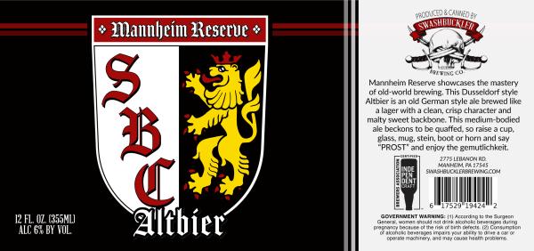 Mannheim Altbier Label
