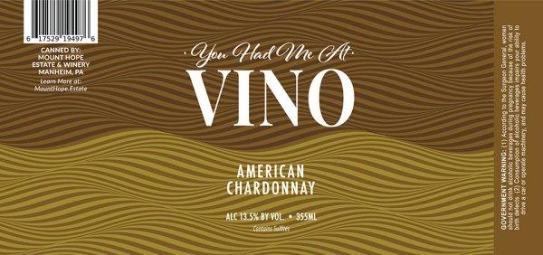 VINO Chardonnay Label