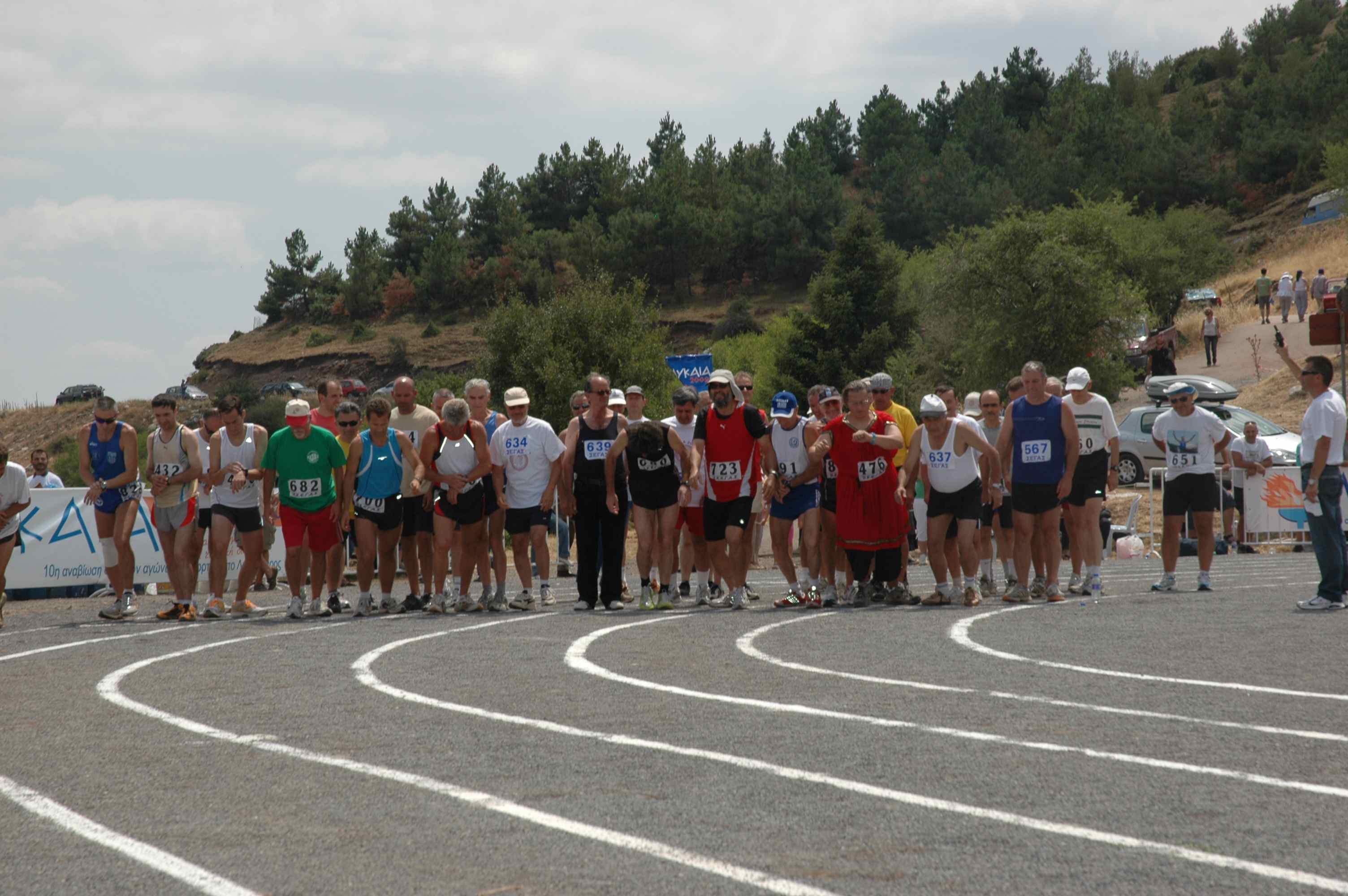 Old Warriors at the start