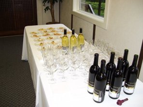 Food pairings with their wines.