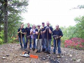 OIT volunteers Beth Gross, Cathy Levis, Ellen Thorne, Rebecca Julius, Aaron Ehrensberger, Jim Hopkins, Mark Mokluk (Left to right)