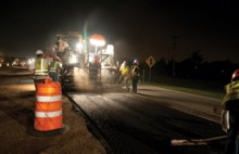 Johnnie Dodds Construction - Laying and Smoothing Asphalt