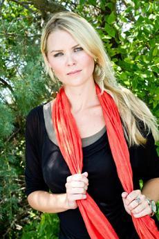 Mount Pleasant Fall Fashion - Kinsey, orange scarf