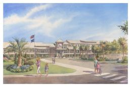 Ground was broken on the new Sullivan's Island Elementary School in January 2013. Drawing courtesy of Cummings & McCrady, Inc. Architects.