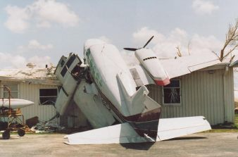 Cessna aircraft after Hurricane Andrew