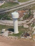 An aerial photo of Homestead AFB after Andrew passed