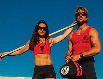 NBC's The Spartan Ultimate Team Challenege contestants Elea Faucheron and Adam Von Ins