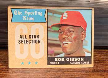 Bob Gibson basball card