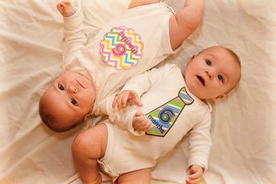 Madi and Mason Greer at 6 months old.