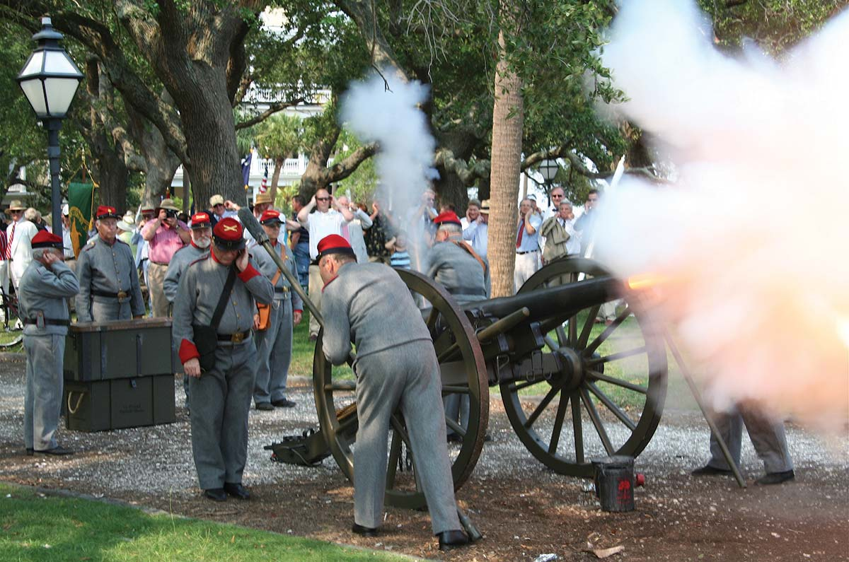 Carolina Day at White Point Garden, Charleston, SC