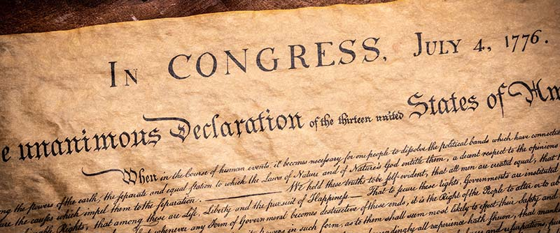 Declaration of Independence - partial