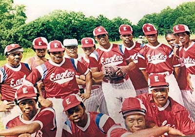 Members of the 10 Mile Eagles, in a photo taken in 1980.