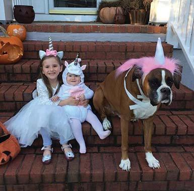 Sydney and Baby Hazel withdog, Houser