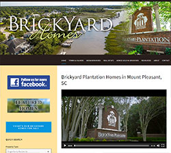 Brickyard Plantation homes website