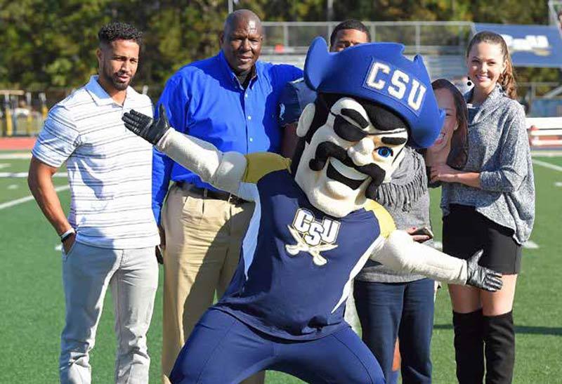 Charleston Southern University's Mascot, Bucky the Buccaneer