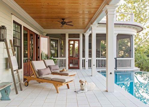 Awendaw-pool-porch-dog