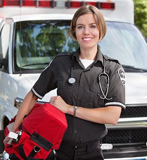 An emergency medical technician