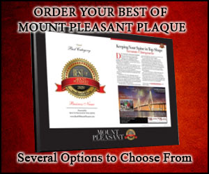 Order Your Best of Mount Pleasant Plaques!