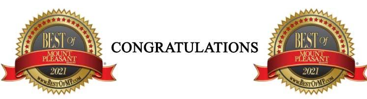 Congratulations Best of Mount Pleasant Winner!