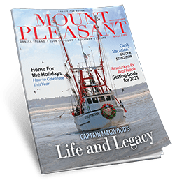 Mount Pleasant Magazine Nov/Dec 2020 cover with William Beebe's photo on the cover