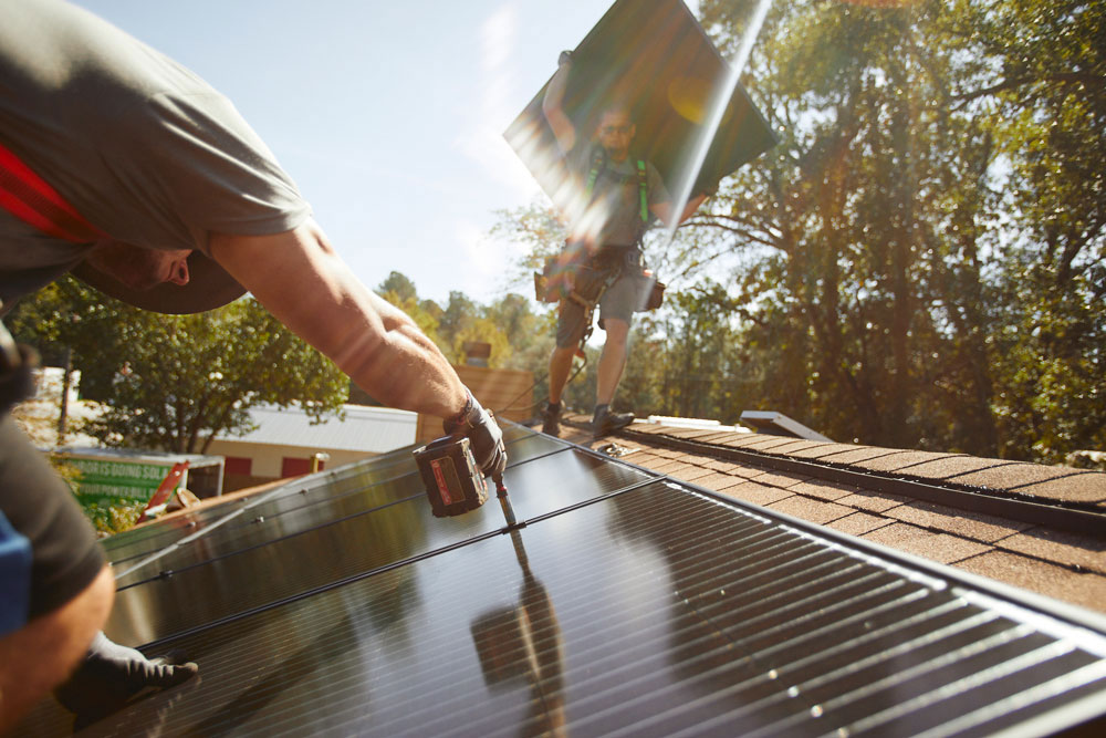 Solar panels look sleeker than ever before and are a great way to lower your energy bill. Phot couresty Palmetto.