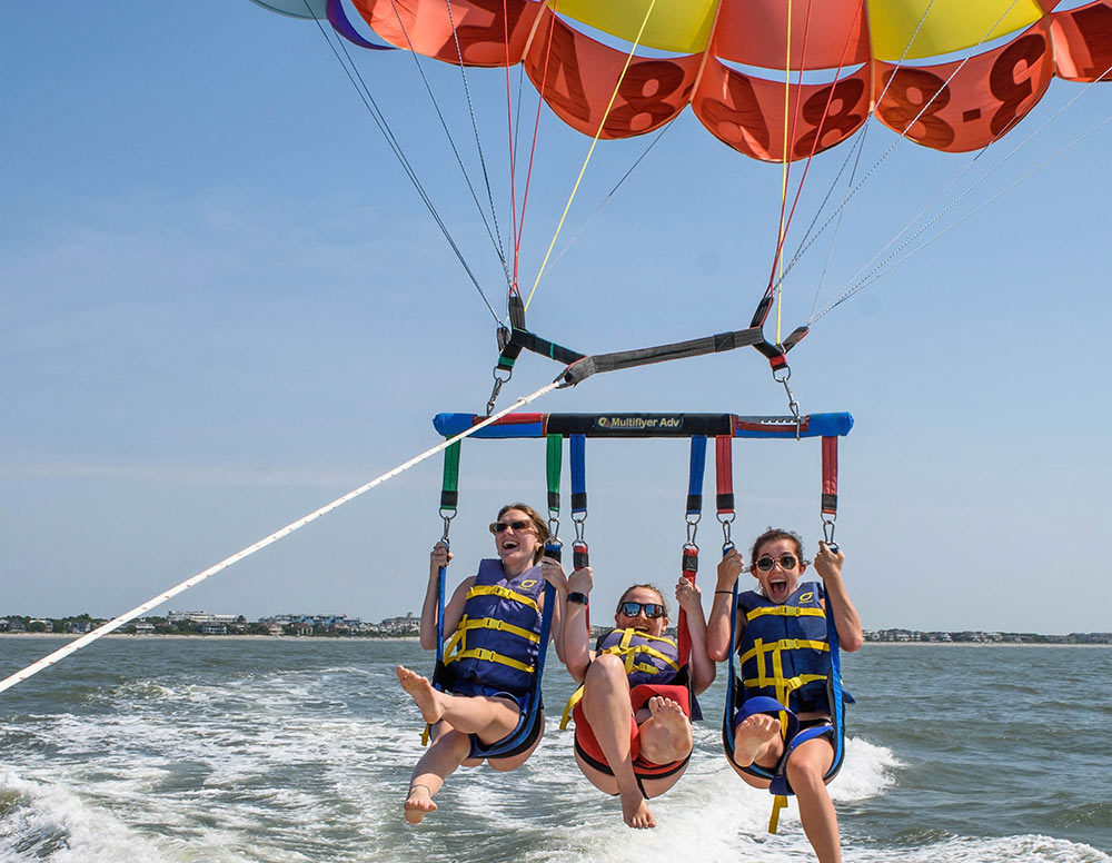 Parasailing with Tidal Wave Water Sports