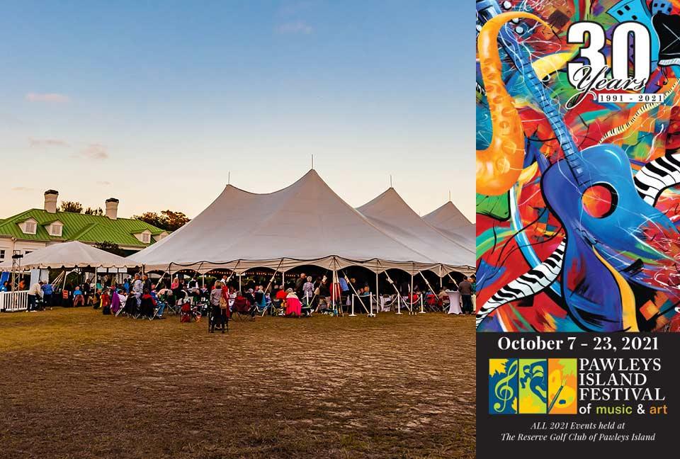 2021 Pawleys Island Festival of Art & Music photo & brochure cover