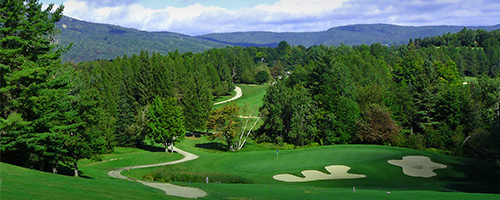 Golf and downhill mountain bike trails